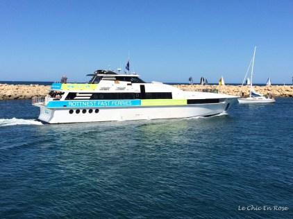 Ferry en route to Rottnest Island on Australia Day morning