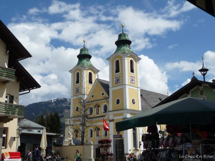 The parish church of St Johann in the main square