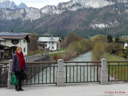 View back to the mountains. St Johann lies in a valley near the Wilder Kaiser mountain range