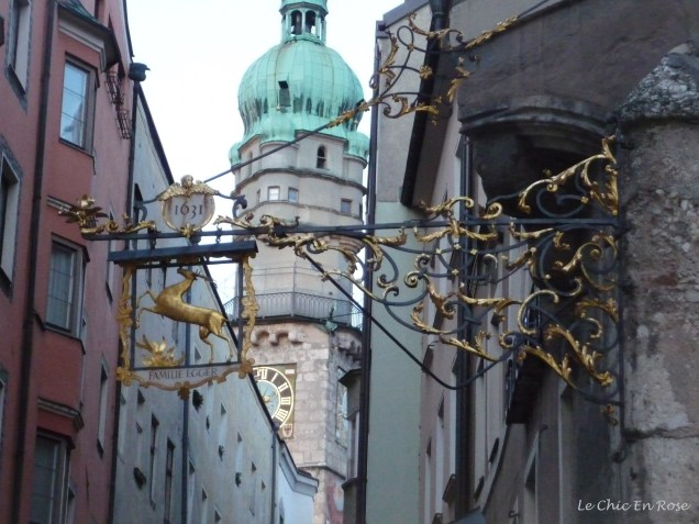 Typical little streets criss cross the Altstadt. The old signs give you an idea of the dates of buildings.