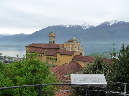 The pilgrimage church of Madonna del Sasso perched on a rocky crag above Locarno!