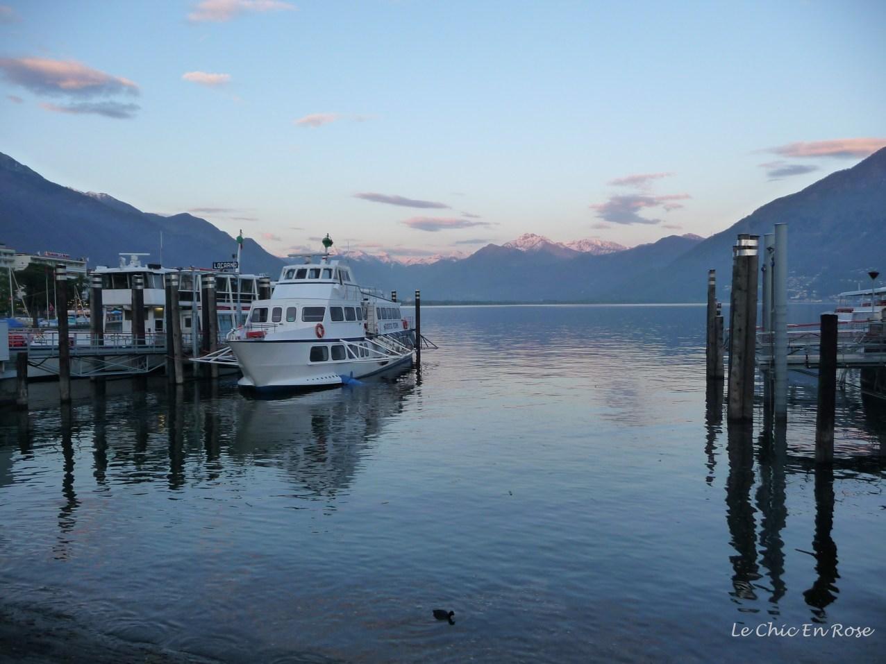 Lake Maggiore at dusk