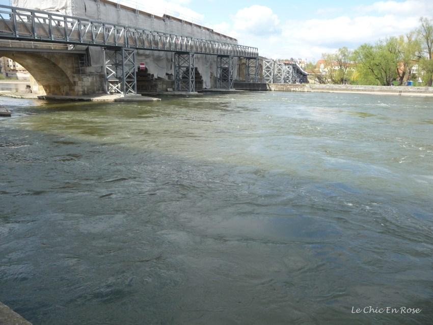 The Old Stone Bridge across the river Danube