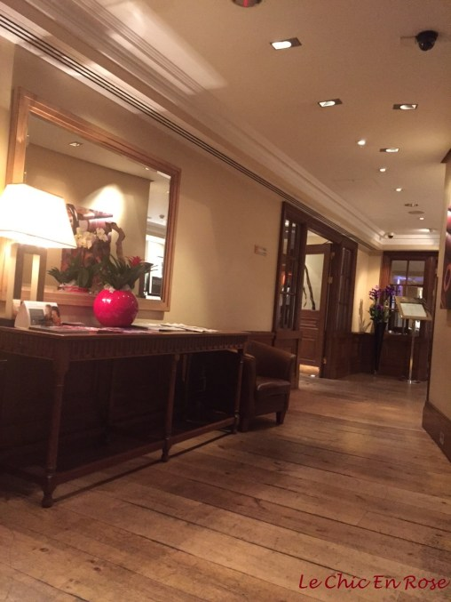 Hotel lobby area of the Sherlock Holmes Hotel London