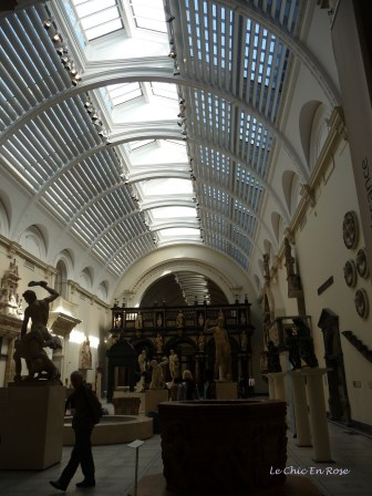 Entrance to the European sculptures exhibit at the V&A Museum