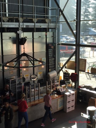 View from upstairs area down over the Brewhouse Bar