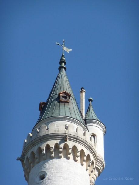 Neuschwanstein turret taken from the path up to the Marienbruecke