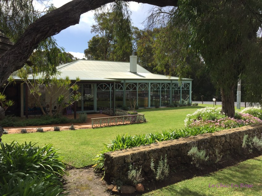 The charming colonial homestead which houses the Cape Lavender Tearooms and shop