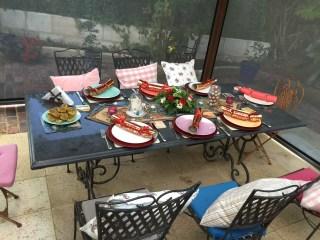 Table setting for Christmas Eve