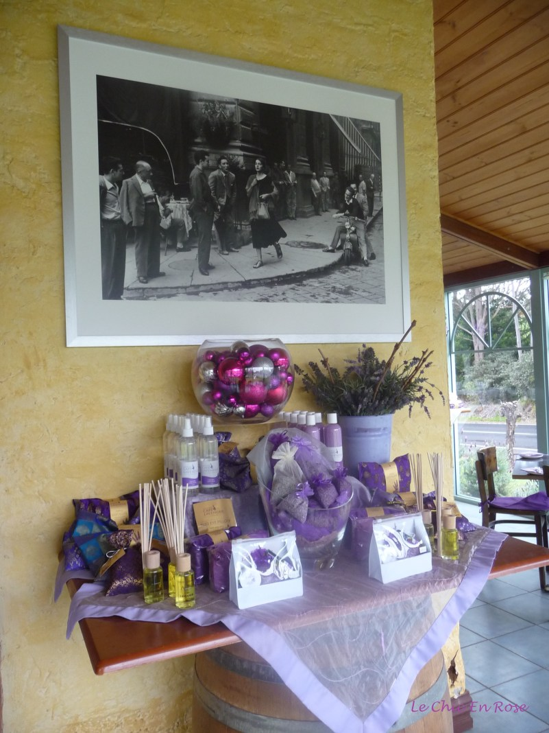 Old framed photos add to the old fashioned ambiance
