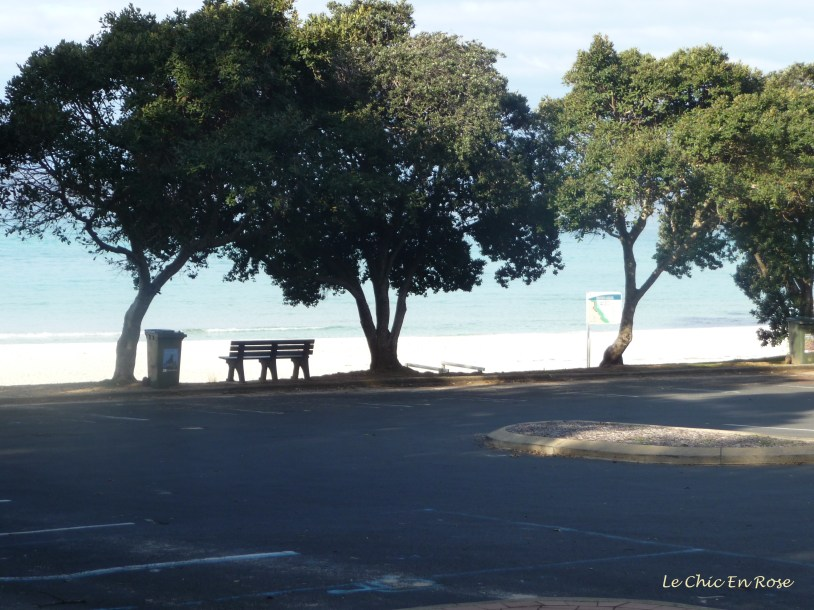 The benches are a lovely place to sit and gaze out across Geographe Bay