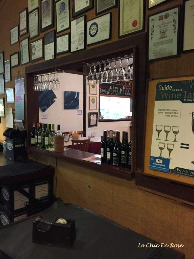 Wine tasting at the Woody Nook Cellar Door