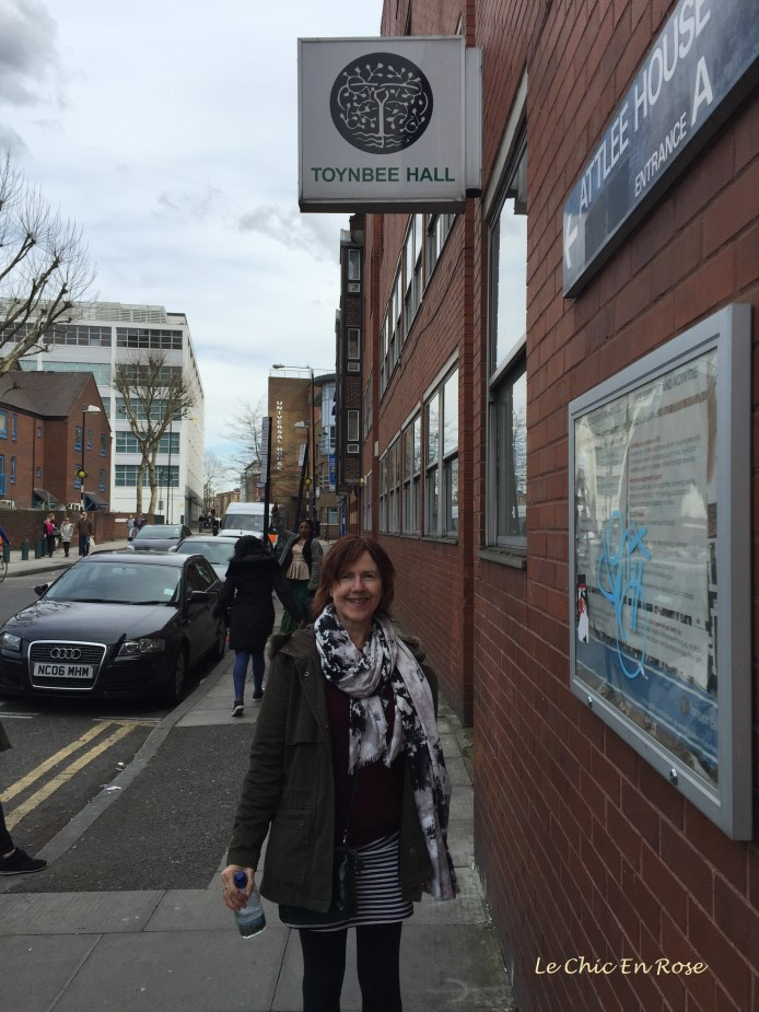 Outside Toynbee Hall E1