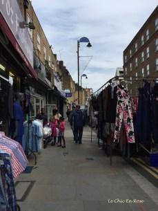 Stalls at Petticoat Lane Market London