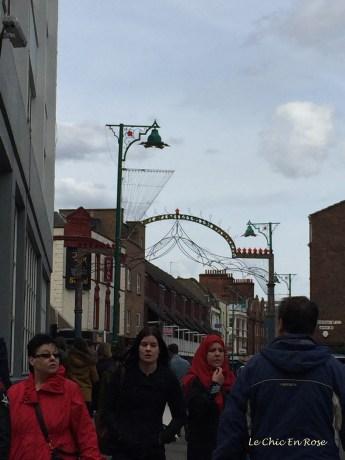 Street scene Petticoat Lane Market London