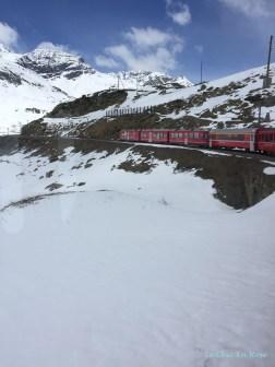The Bernina Express Ascending The Bernina Pass Switzerland