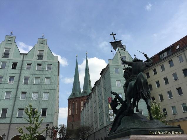 Nikolaiviertel Berlin With The Nikolaikirche In The Background