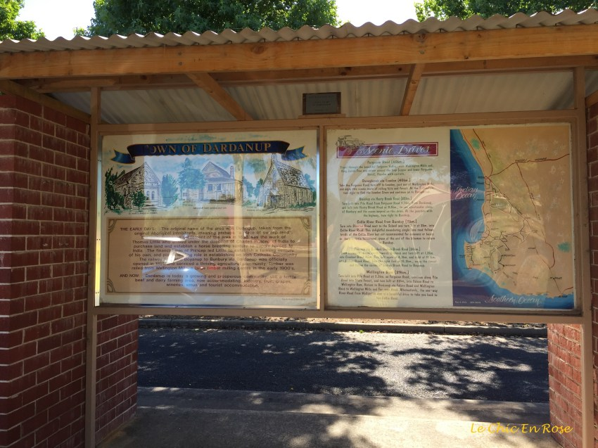 The bus shelter provides a wealth of information