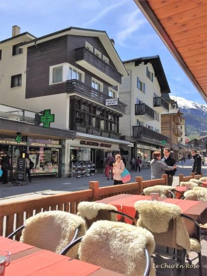 High street Zermatt Switzerland