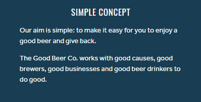 Good Beer Company Mission Statement