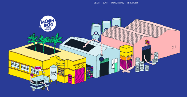 Moon Dog Brewery homepage image