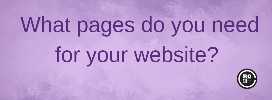 What pages do you need for your website?