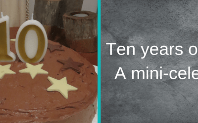 10 years of writing. A mini celebration