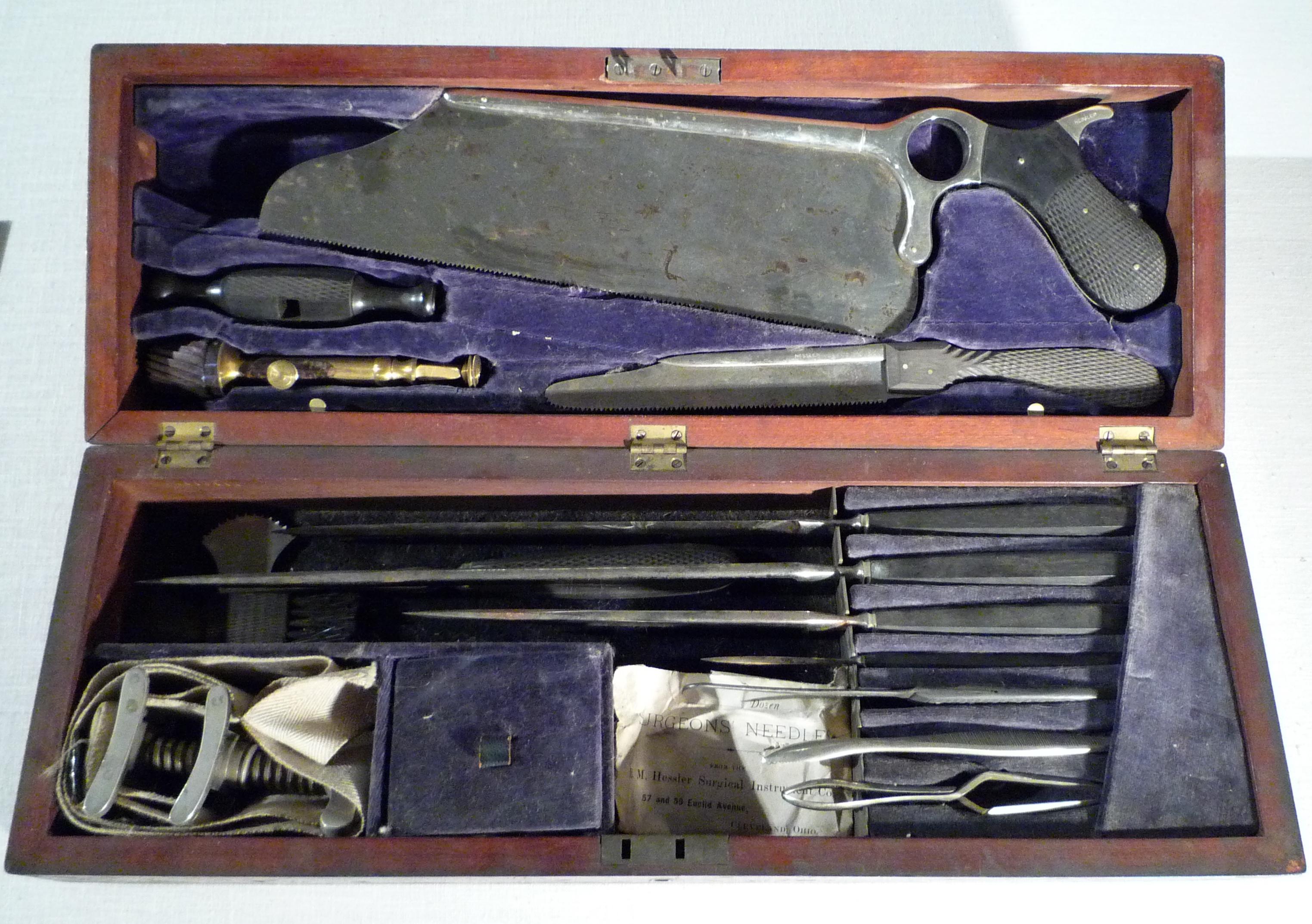 amputation kit (E.M. Hessler, 1890-1893)