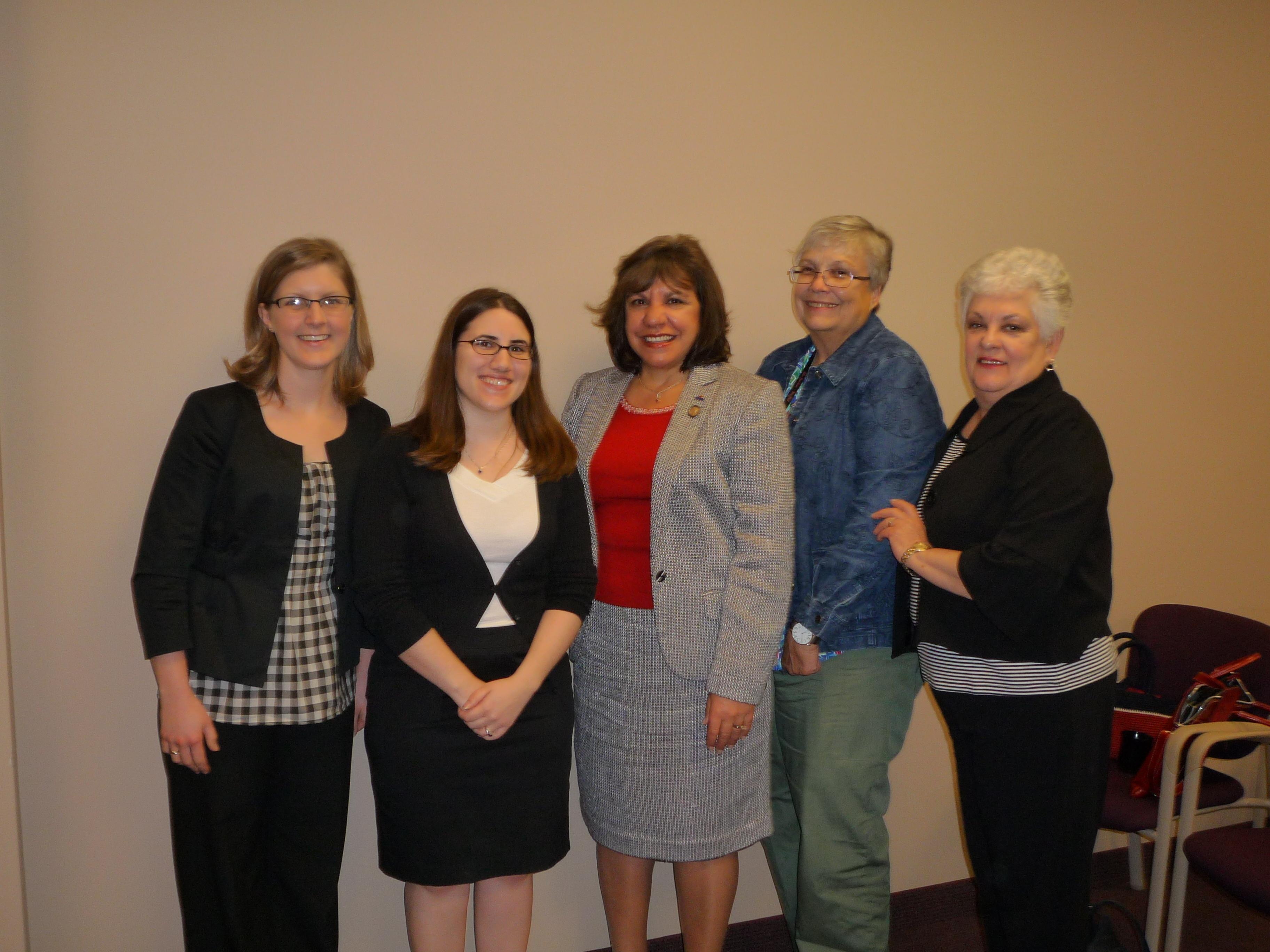 Cassie Nespor, Maria Dastolfo, and members of the Ohio Nurses Association- District 3
