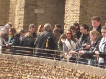 Hannah spotted across the Colosseum