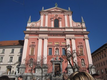 Pink church in Slovenia