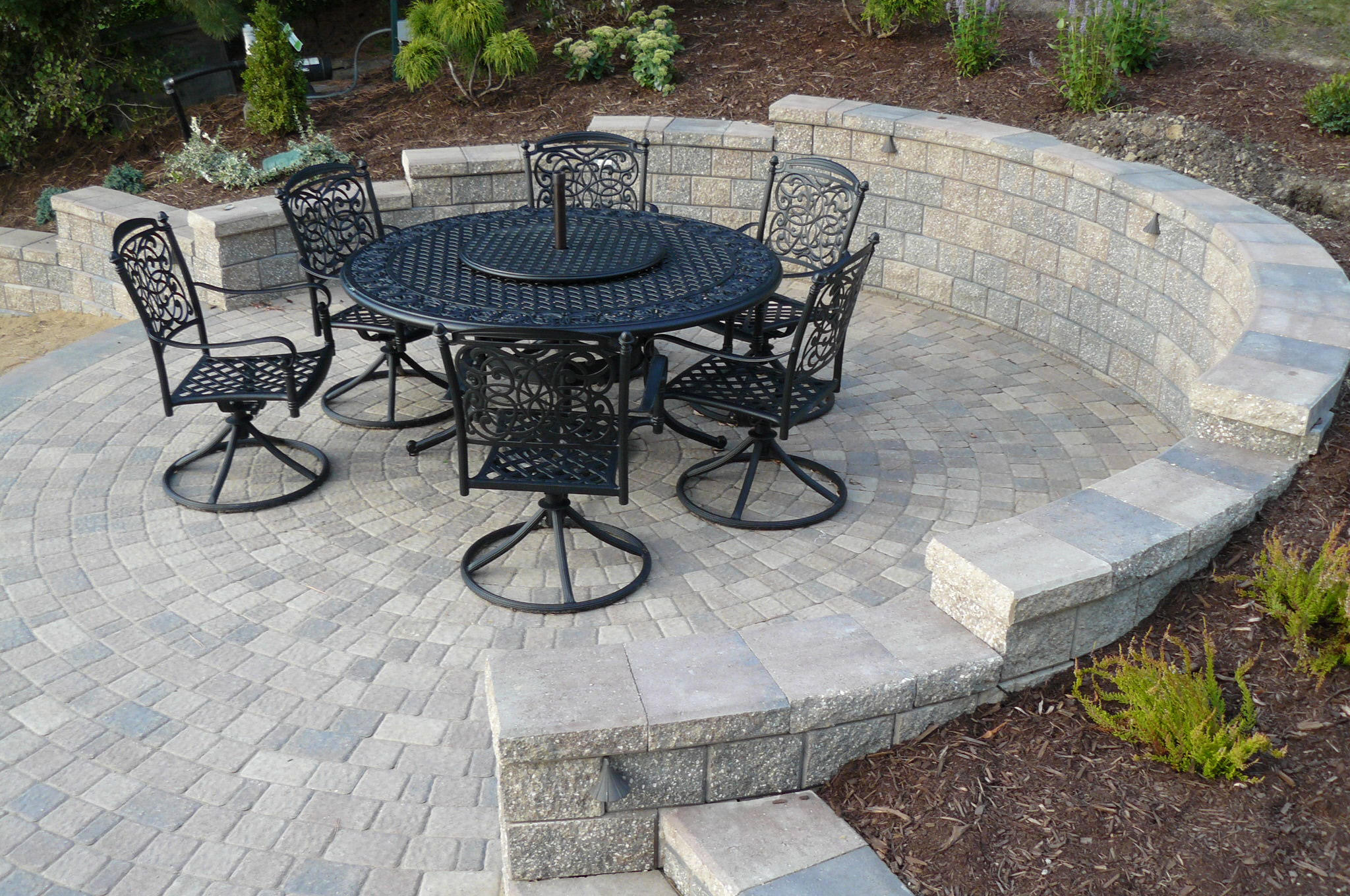 Patios, Steps & Walkways | Rosendo Landscaping on Backyard Patio Steps id=62913