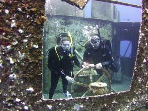 Scuba Diving at Kittiwake off Grand Cayman