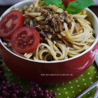 Thunfisch-Spaghetti mit Ingwer-Balsam
