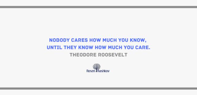 Теодор Рузвелт цитат за доверието