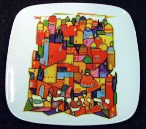 jewish-plate-art-jerusalem
