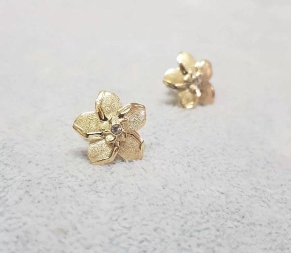 cercei aur diamant safir