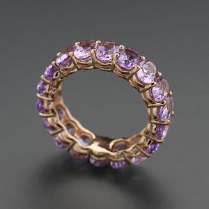 gold amethyst eternity band
