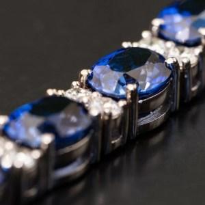 diamond sapphire tennis bracelet