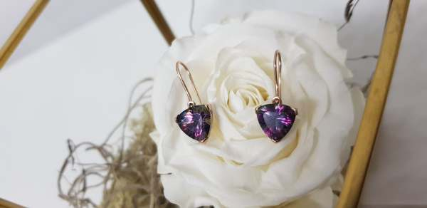 mystic topaz gold earrings