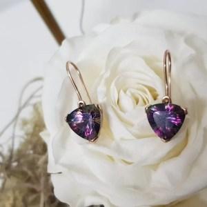 mystic topaz gold earrings