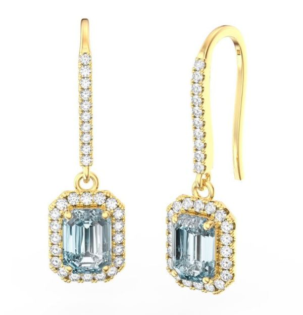 aquamarine diamond earring