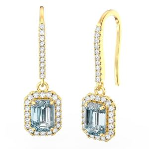 aquamarine diamond earring