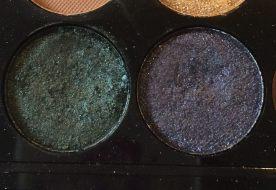 fard bleu et vert