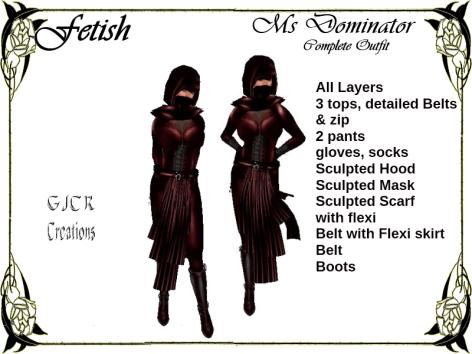 [GJCR] Fetish ~ Ms Dominator in Red