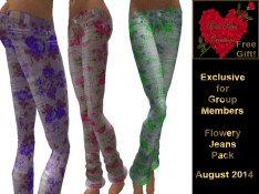 Flowery Jeans Free Group Gift