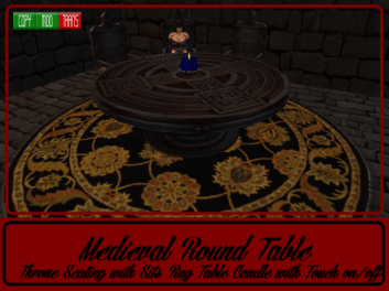 RPC Medieval Round Table & Thrones