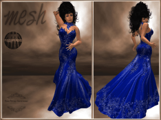 [RPC] MESH ~ Blue Evening Gown