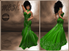 [RPC] MESH ~ Emerald Evening Gown