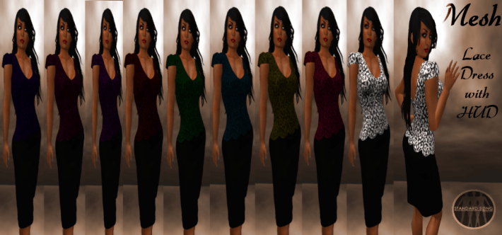 [RPC] MESH ~ Lace Dress with HUD